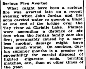 John Jordan serious fire July 19 1940 p 4