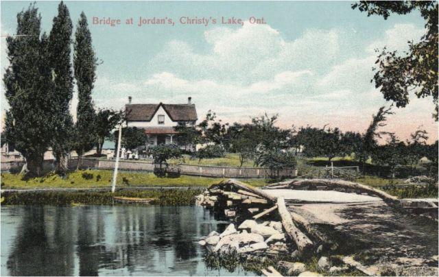 Jordan's Cottages colour postcard