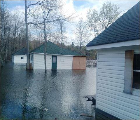 Jordan's cottages flood 2017