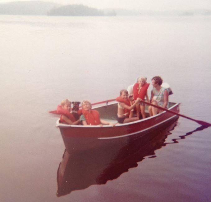 Jordans on Christie Lake in boat