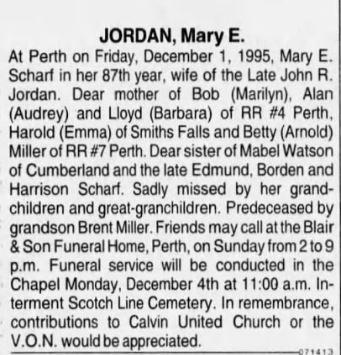 Mary Jordan 1995