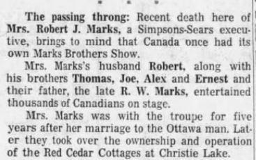 Red Cedar cottages Sept 23 1970 p 33