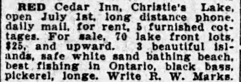Red Cedar Inn 1924