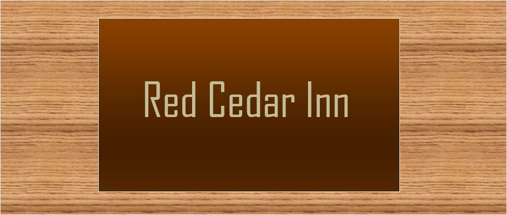 Red Cedar Inn banner