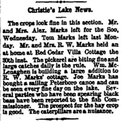 Red Cedar Villa June 2 1899 p 1