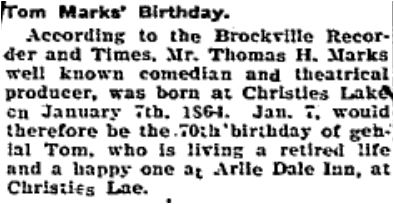 Tom Marks birthday Jan 18 1935 p 4