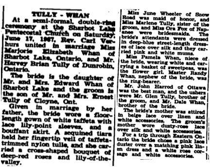 Tully Whan 1967