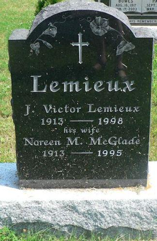 Victor Lemieux gravestone