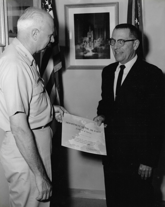 Don Rutherford service award