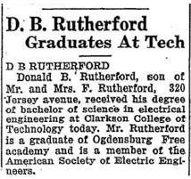 Don's grad announcement 1930