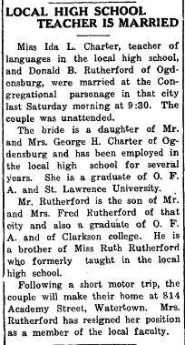 Ida Charter married