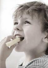 kid eating cheese curd