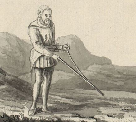 Divining rod in Britain 18th century