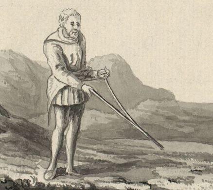 Divining rod in Britain 18th century