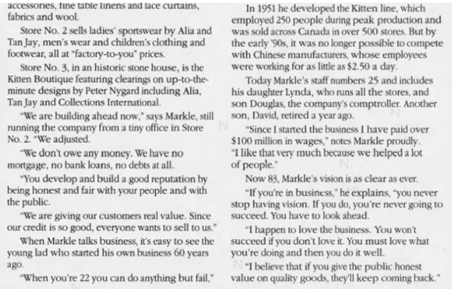 Kitten 1996 customers flock article part 2