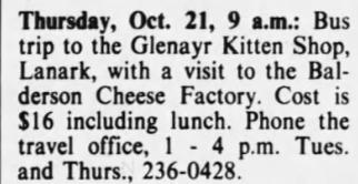 Kitten bus trip 1982 Oct. 19 1982 p 63
