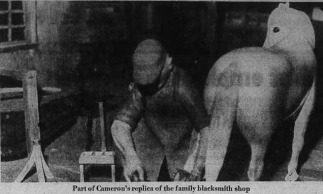 Walter replica of blacksmith shop 1975
