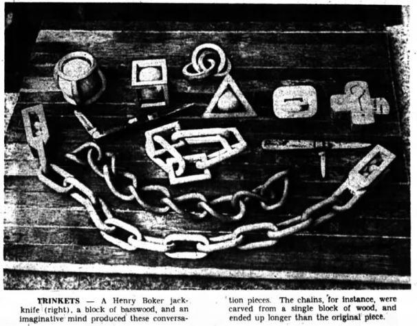 Walter wooden chains 1966