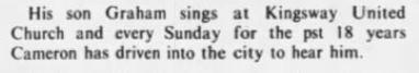 Walter's son singing 1979