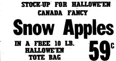 apples for Hallowe'en