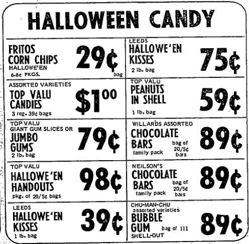 candy halloween 1971