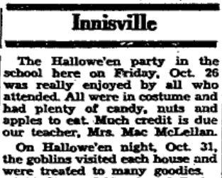 Innisville Hallowe'en