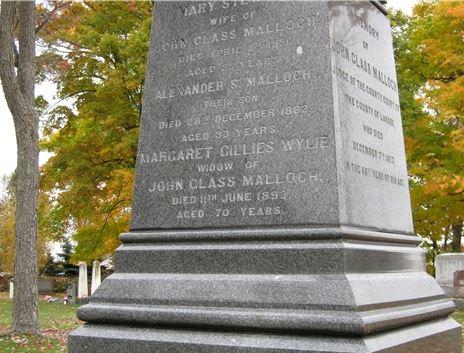 John Malloch grave Elmwood