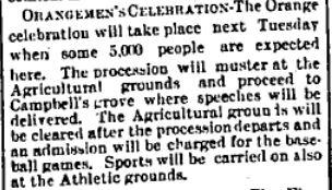Orange celebrations Perth 1904