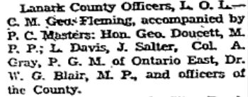 orange lodge lanark county officers 1946