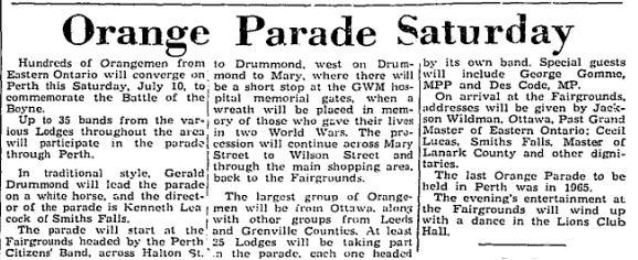 orange parade 1971