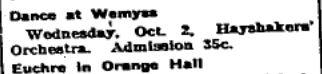 Wemyss orange hall