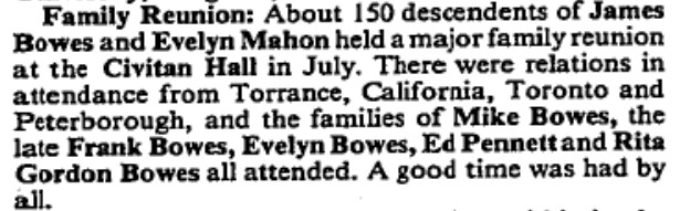 Bowes and Mahon families