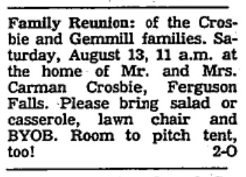 Crosbie and Gemmill family