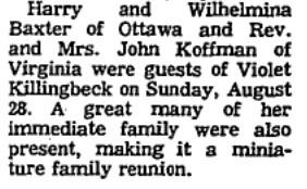 Killingbeck family