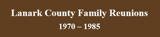 Lanark County Family Reunions banner