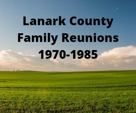 Lanark County Family Reunions