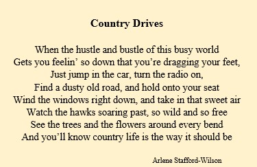 Country Drives poem